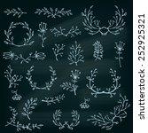 floral design elements. floral ... | Shutterstock .eps vector #252925321