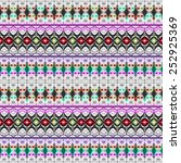 colorful ornamental pattern | Shutterstock . vector #252925369