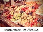 Shelf With Fruits On A Farm...