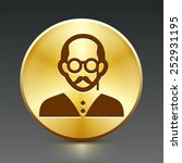old man with glasses on gold... | Shutterstock .eps vector #252931195