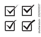 set of check mark  check box... | Shutterstock .eps vector #252935557