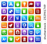 education vector icon set | Shutterstock .eps vector #252941749