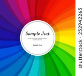 text box object  rainbow color... | Shutterstock .eps vector #252942265