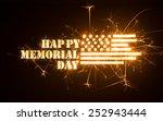 happy memorial day greeting...   Shutterstock . vector #252943444