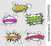 collection multicolored comic... | Shutterstock .eps vector #252944905