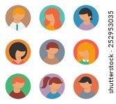 set of vector avatars | Shutterstock .eps vector #252953035