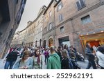 siena  italy   may 12   tourist ... | Shutterstock . vector #252962191