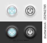 vector ui switch button  on off
