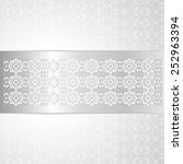 elegance silver background with ... | Shutterstock .eps vector #252963394