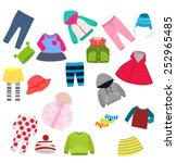 set of children's clothes ... | Shutterstock .eps vector #252965485