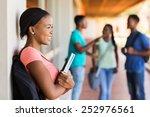 pretty female afro american... | Shutterstock . vector #252976561