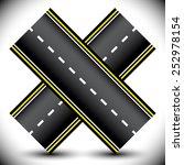 crossed highway  driveway... | Shutterstock .eps vector #252978154