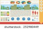 a graphical infochart showing... | Shutterstock .eps vector #252980449