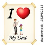 illustration of i love my dad... | Shutterstock .eps vector #252982315