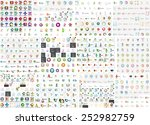 Logo mega collection, abstract geometric business icon set | Shutterstock vector #252982759