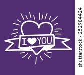 i love you  | Shutterstock .eps vector #252984424