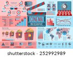 set of cinema infographic... | Shutterstock .eps vector #252992989