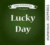 saint patrick's day... | Shutterstock .eps vector #252993811