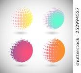 set of halftone vector...   Shutterstock .eps vector #252994537
