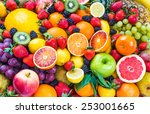 fresh mixed fruits.fruits... | Shutterstock . vector #253001665