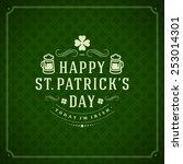 Typographic Saint Patrick's Da...
