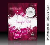 professional business flyer ...   Shutterstock .eps vector #253017184
