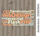 text cloud. seo wordcloud.... | Shutterstock .eps vector #253025641