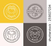 vector hand made labels and... | Shutterstock .eps vector #253027234