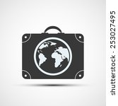 vector icons travel suitcases | Shutterstock .eps vector #253027495