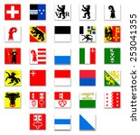 switzerland cantonal flag... | Shutterstock .eps vector #253041355