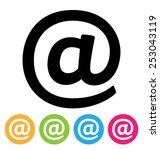 e mail icon | Shutterstock .eps vector #253043119