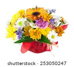 beautiful bouquet of gerbera ... | Shutterstock . vector #253050247