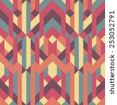 abstract retro geometric... | Shutterstock .eps vector #253052791