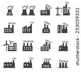 industrial building icon | Shutterstock .eps vector #253059331