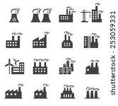 industrial building icon | Shutterstock .eps vector #253059331