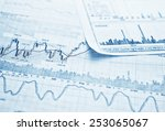 showing business and financial... | Shutterstock . vector #253065067