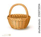 wicker basket. vector. | Shutterstock .eps vector #253072054