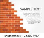 broken brick wall | Shutterstock .eps vector #253074964
