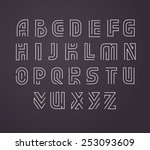 line style vector labyrinth... | Shutterstock .eps vector #253093609