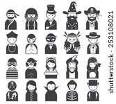 various people symbol icons...   Shutterstock .eps vector #253108021
