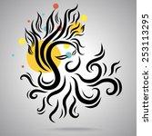 octopus ink art | Shutterstock .eps vector #253113295