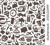 cookery   seamless vector...   Shutterstock .eps vector #253122499