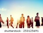 business people rush hour... | Shutterstock . vector #253125691