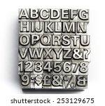 letterpress   block letter... | Shutterstock . vector #253129675