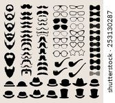 hipster style infographics... | Shutterstock .eps vector #253130287