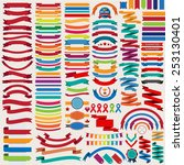 mega collection of retro... | Shutterstock .eps vector #253130401