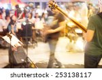Abstract Band Musician On...