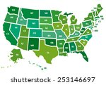 map of the usa | Shutterstock .eps vector #253146697
