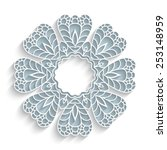 round paper lace frame with... | Shutterstock .eps vector #253148959