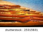 Long Board Kayaks On Lake...